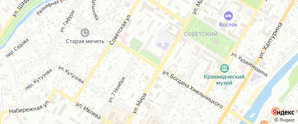 Улица Богдана Хмельницкого на карте Стерлитамака с номерами домов