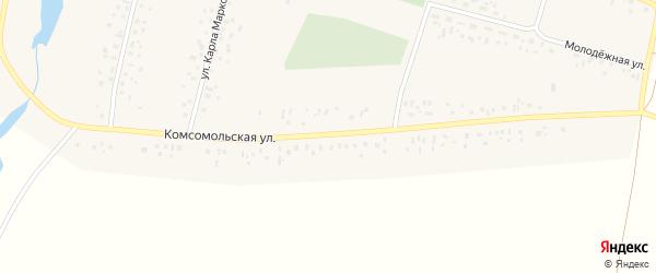Комсомольская улица на карте села Исмагилово с номерами домов