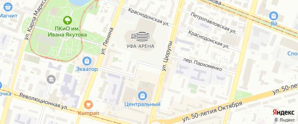 Улица Осипенко на карте Уфы с номерами домов