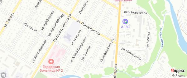 Улица Томина на карте Стерлитамака с номерами домов