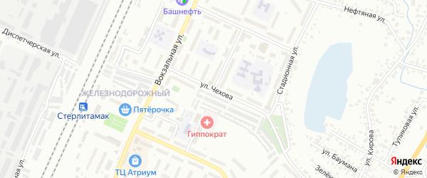 Локомотивная улица на карте Стерлитамака с номерами домов