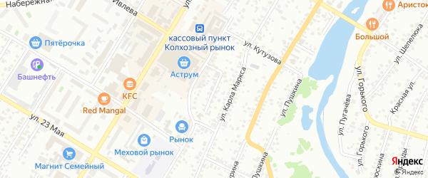 Комсомольский проезд на карте Стерлитамака с номерами домов