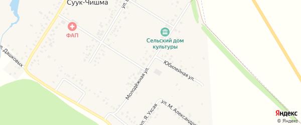 Молодежная улица на карте села Суука-Чишма с номерами домов