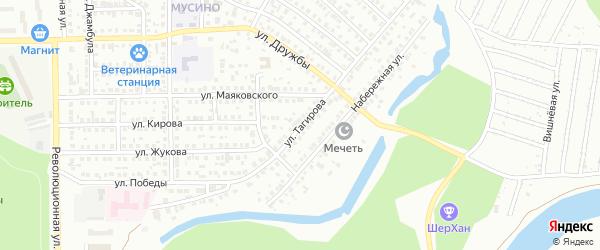 Улица Тагирова на карте Салавата с номерами домов