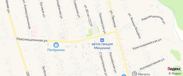 Революционная улица на карте села Мишкино с номерами домов