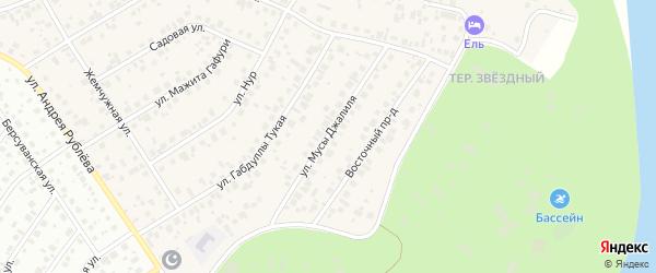 Улица М.Джалиля на карте села Чесноковки с номерами домов