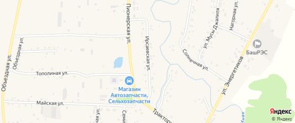 Ирсаевская улица на карте села Мишкино с номерами домов