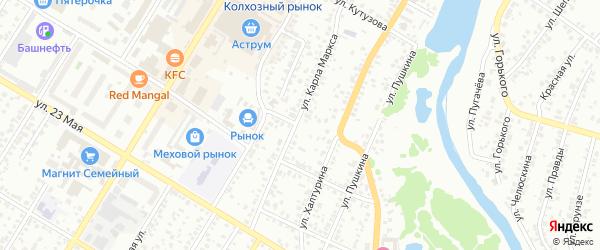 Овражный переулок на карте Стерлитамака с номерами домов