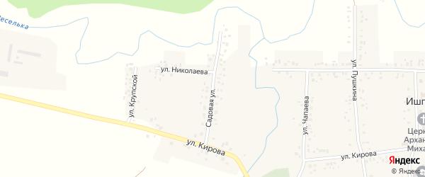 Садовая улица на карте села Ишпарсово с номерами домов