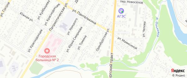 Переулок Пантелькина на карте Стерлитамака с номерами домов