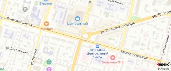 Лебединский переулок на карте Уфы с номерами домов