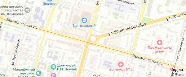 Улица Щербакова на карте Уфы с номерами домов
