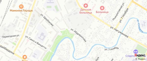 Улица Абдрашитова на карте Стерлитамака с номерами домов