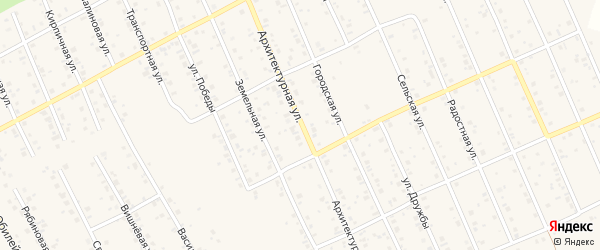 Архитектурная улица на карте Благовещенска с номерами домов