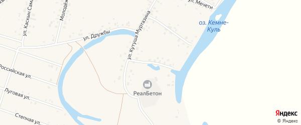 Улица Саита Шарипова на карте деревни Кутушево с номерами домов