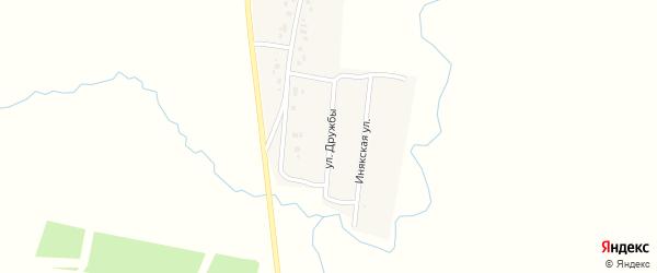 Улица Дружбы на карте деревни Ирсаево с номерами домов