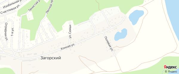 Конная улица на карте деревни Загорского с номерами домов