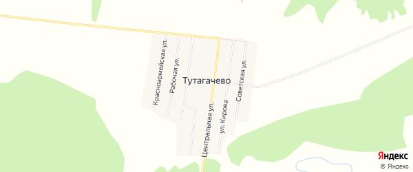Карта деревни Тутагачево в Башкортостане с улицами и номерами домов