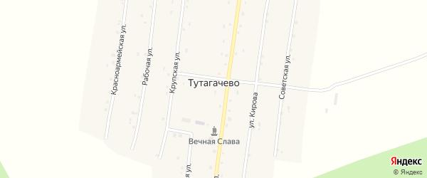 Рабочая улица на карте деревни Тутагачево с номерами домов