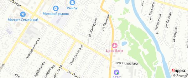 Чкаловский 2-й переулок на карте Стерлитамака с номерами домов