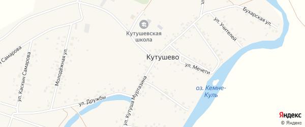 Улица Кутуша Муртазина на карте деревни Кутушево с номерами домов