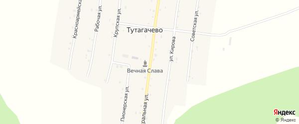 Центральная улица на карте деревни Тутагачево с номерами домов