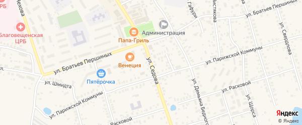 Тупик Седова на карте Благовещенска с номерами домов
