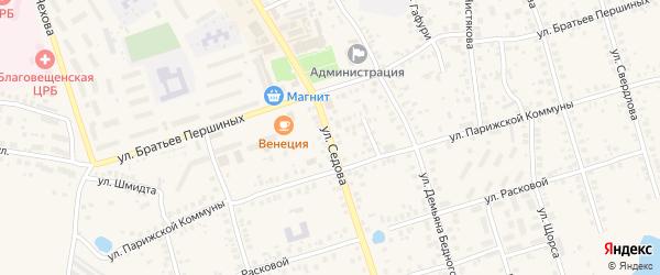 Улица Седова на карте Благовещенска с номерами домов