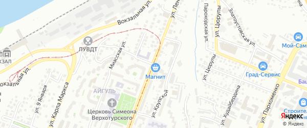 Пермская улица на карте Уфы с номерами домов