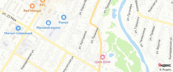 Чкаловский 1-й переулок на карте Стерлитамака с номерами домов