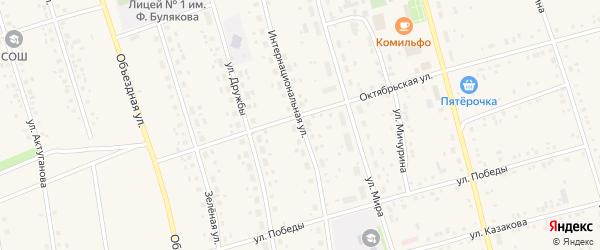 Интернациональная улица на карте села Мишкино с номерами домов