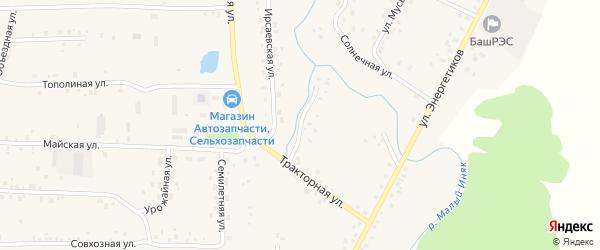 Мостовая улица на карте села Мишкино с номерами домов