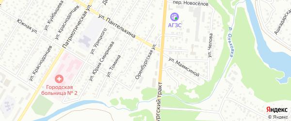 Оренбургская улица на карте Стерлитамака с номерами домов
