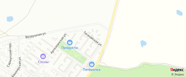 Таганайская улица на карте Уфы с номерами домов