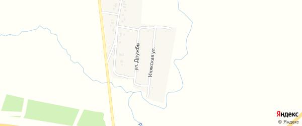 Инякская улица на карте деревни Ирсаево с номерами домов