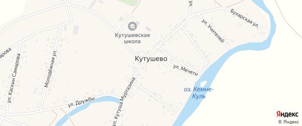 Улица Насимы Фазлиахметовой на карте деревни Кутушево с номерами домов