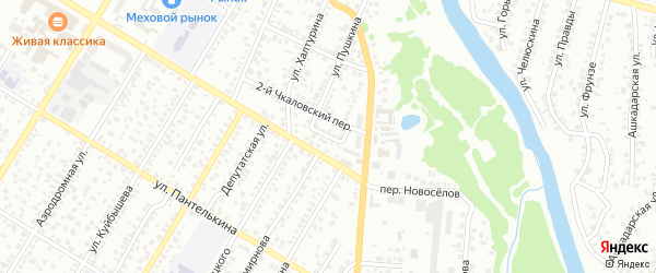 Переулок Пушкина на карте Стерлитамака с номерами домов