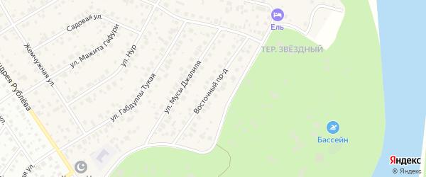 Восточный проезд на карте села Чесноковки с номерами домов