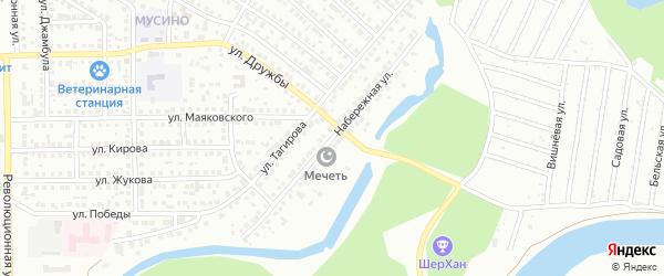 Набережная улица на карте Салавата с номерами домов