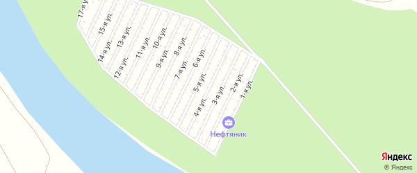 4-я улица на карте СНТ Нефтяника с номерами домов