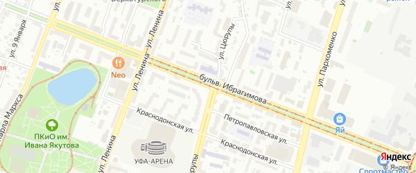 Бульвар Ибрагимова на карте Уфы с номерами домов