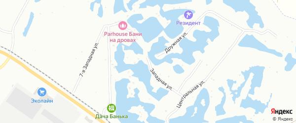 Западная улица на карте Мелеуза с номерами домов
