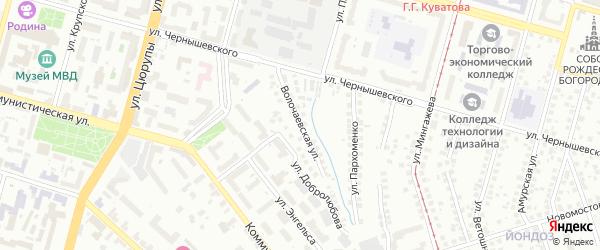 Волочаевская улица на карте Уфы с номерами домов