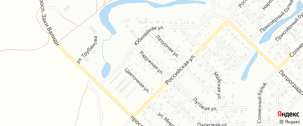 Радужная улица на карте Салавата с номерами домов