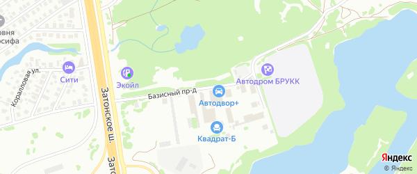 Базисный проезд на карте Уфы с номерами домов