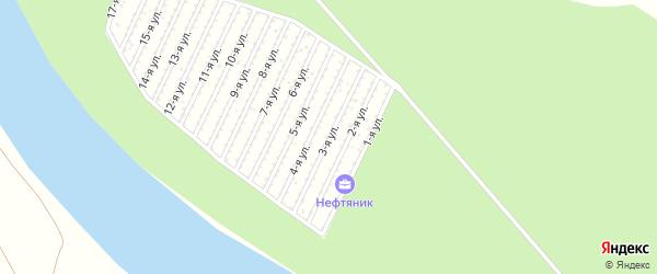 3-я улица на карте СНТ Нефтяника с номерами домов