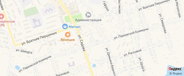 Тупик Парижской Коммуны на карте Благовещенска с номерами домов