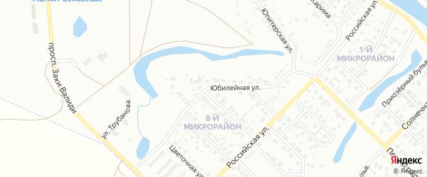 Юбилейная улица на карте Салавата с номерами домов