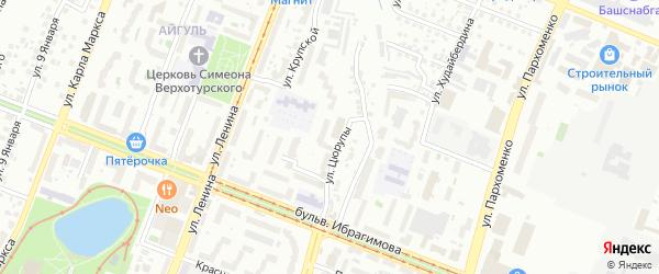 Большевистская улица на карте Уфы с номерами домов