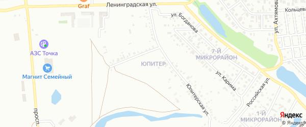 Улица Юпитер на карте Ишимбая с номерами домов